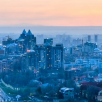 Almaty in twilight